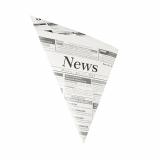 5 x  300 Spitztüten, Pergament-Ersatz 32,5 cm x 23 cm x 23 cm Newsprint Füllinhalt 250 g, fettdicht
