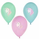 12 x  6 Luftballons Ø 29 cm farbig sortiert Unicorn