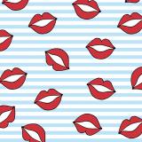 12 x  30 Servietten, 3-lagig 1/4-Falz 33 cm x 33 cm blau Kiss