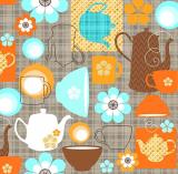 10 x  20 Servietten, 3-lagig 1/4-Falz 33 cm x 33 cm Coffee Party