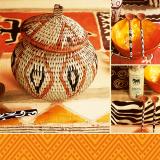 10 x  20 Servietten, 3-lagig 1/4-Falz 33 cm x 33 cm African Style