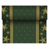 6 x  Tischläufer, stoffähnlich, Airlaid 24 m x 40 cm grün Star Shine