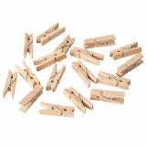 10 x  100 Mini-Klammern, Holz 3,5 cm