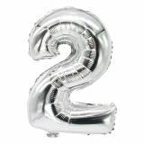 24 x  Folienluftballon 35 cm x 20 cm silber 2
