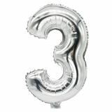 24 x  Folienluftballon 35 cm x 20 cm silber 3
