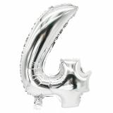 24 x  Folienluftballon 35 cm x 20 cm silber 4