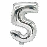 24 x  Folienluftballon 35 cm x 20 cm silber 5