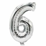 24 x  Folienluftballon 35 cm x 20 cm silber 6