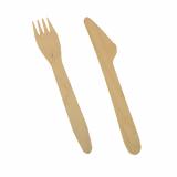 500 Bestecke, Holz pure 16,5 cm (Messer, Gabel)