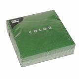 14 x  50 Servietten, 3-lagig 1/4-Falz 33 cm x 33 cm dunkelgrün