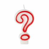 12 x  Geburtstagskerze 7,3 cm weiss ? mit rotem Rand