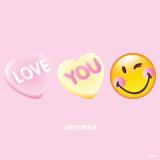 10 x  20 Servietten, 3-lagig 1/4-Falz 33 cm x 33 cm Love you - Smiley