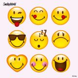 10 x  20 Servietten, 3-lagig 1/4-Falz 33 cm x 33 cm Happy Smiley