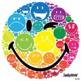 10 x  20 Servietten, 3-lagig 1/4-Falz 33 cm x 33 cm Smiley Faces