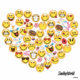 10 x  20 Servietten, 3-lagig 1/4-Falz 33 cm x 33 cm Hearty - Smiley