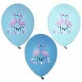 12 x  6 Luftballons Ø 29 cm farbig sortiert Flamingo