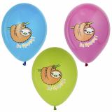 12 x  6 Luftballons Ø 29 cm farbig sortiert Happy Sloth