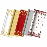 25 x  Tischdecke, Papier 6 m x 1,2 m christmas designs lackiert