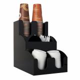 2 x  Spender für Trinkbecher und Deckel To Go 31 cm x 30,5 cm x 21 cm schwarz