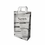 8 x  50 Tragetaschen, Papier 36 cm x 22 cm x 10 cm Newsprint mit Tragegriff