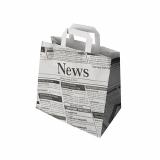8 x  50 Tragetaschen, Papier 25 cm x 26 cm x 17 cm Newsprint mit Tragegriff