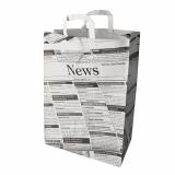 4 x  50 Tragetaschen, Papier 44 cm x 32 cm x 17 cm Newsprint mit Tragegriff