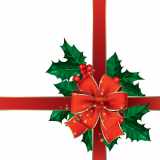 15 x  20 Servietten, 3-lagig 1/4-Falz 33 cm x 33 cm Christmas Ribbon