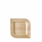 4 x  25 Teller, Palmblatt pure eckig 15 cm x 15 cm x 1,5 cm