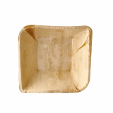 4 x  25 Schalen, Palmblatt pure eckig 300 ml 14 cm x 14 cm x 4,5 cm