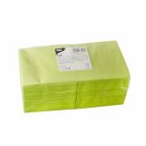 4 x  250 Servietten, 3-lagig 1/4-Falz 24 cm x 24 cm limonengrün