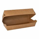 7 x  25 Baguetteboxen, Pappe pure 7,5 cm x 10,7 cm x 22 cm braun 100% Fair groß