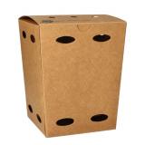 6 x  50 Pommes-Frites-Boxen, Pappe pure 15 cm x 10,5 cm x 10,5 cm braun 100% Fair klein