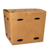 5 x  50 Pommes-Frites-Boxen, Pappe pure 14 cm x 14,5 cm x 14,5 cm braun 100% Fair groß