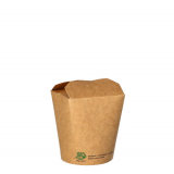 20 x  25 Snackboxen, Pappe pure eckig 230 ml 7,5 cm x 6,5 cm x 5,8 cm braun 100% Fair