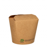 20 x  25 Snackboxen, Pappe pure eckig 760 ml 9,8 cm x 10 cm x 8,8 cm braun 100% Fair