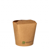 20 x  25 Snackboxen, Pappe pure eckig 470 ml 9,8 cm x 8,2 cm x 7 cm braun 100% Fair