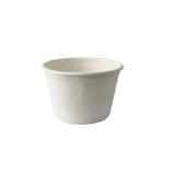 10 x  50 Suppenbecher, Zuckerrohr pure 350 ml Ø 10 cm · 6,4 cm weiss