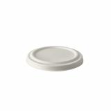 8 x  50 Deckel für Suppenbecher, Zuckerrohr pure Ø 10 cm weiss