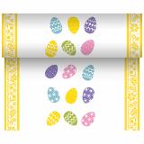 6 x  Tischläufer, stoffähnlich, Airlaid 24 m x 40 cm Coloured Eggs