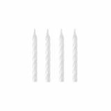 12 x  144 Geburtstagskerzen 6 cm weiss