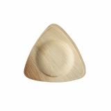4 x  25 Teller, Palmblatt pure 3-eckig 15 cm x 15 cm x 2 cm