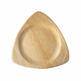 4 x  25 Teller, Palmblatt pure 3-eckig 25 cm x 25 cm x 1,5 cm