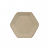 10 x  50 Fingerfood - Teller, Zuckerrohr pure 13 cm x 11,2 cm natur Hexagon