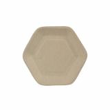 10 x  50 Fingerfood - Teller, Zuckerrohr pure 13 cm x 11,2 cm natur Hexagon