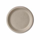 10 x  50 Teller, Zuckerrohr pure ungeteilt Ø 15 cm · 2 cm natur