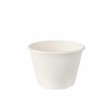 10 x  50 Schalen, Zuckerrohr pure 100 ml Ø 7,5 cm · 5,3 cm weiss