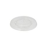 20 x  100 Deckel, PLA pure rund Ø 9,5 cm glasklar mit Kreuzschlitz
