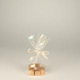 4 x  300 Bodenbeutel, Zellglas pure 17,3 cm x 11,5 cm x 4 cm transparent