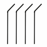 10 x  250 Trinkhalme PLA, flexibel pure Ø 5 mm · 24 cm schwarz