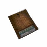 10 x  100 Snackbeutel 20 cm x 16 cm wood look geblockt auf Hülsen